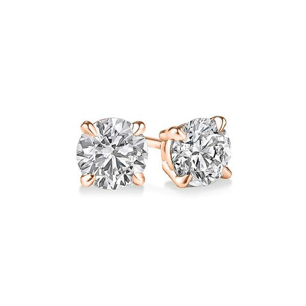 Classic 4 Prong Stud Earrings Made with Swarovski Crystals-Daily Steals