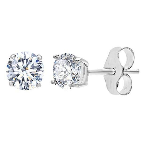 Classic 4 Prong Stud Earrings Made with Swarovski Crystals-Silver-Daily Steals
