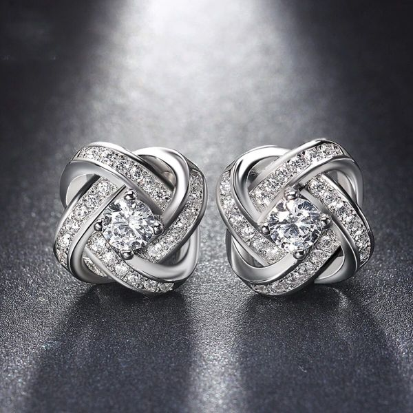 Million Shining lights Stud Earrings Made with Swarovski Crystals-Daily Steals