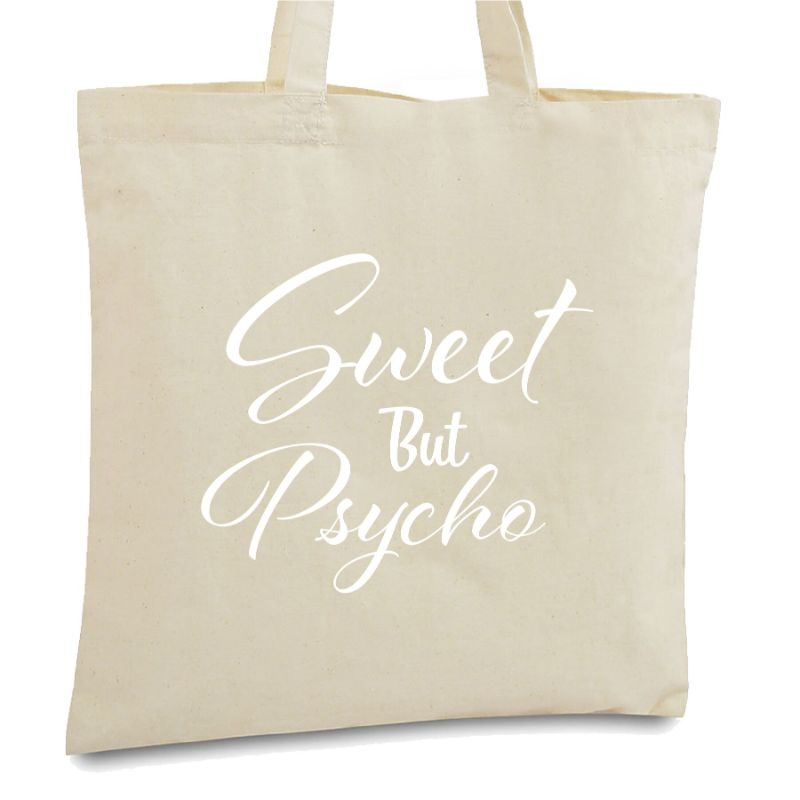 Statement Tote Bags-Sweet But Psyco-Daily Steals