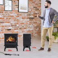 Electric Fireplace Heater with Realistic Log Flame Effect-Daily Steals