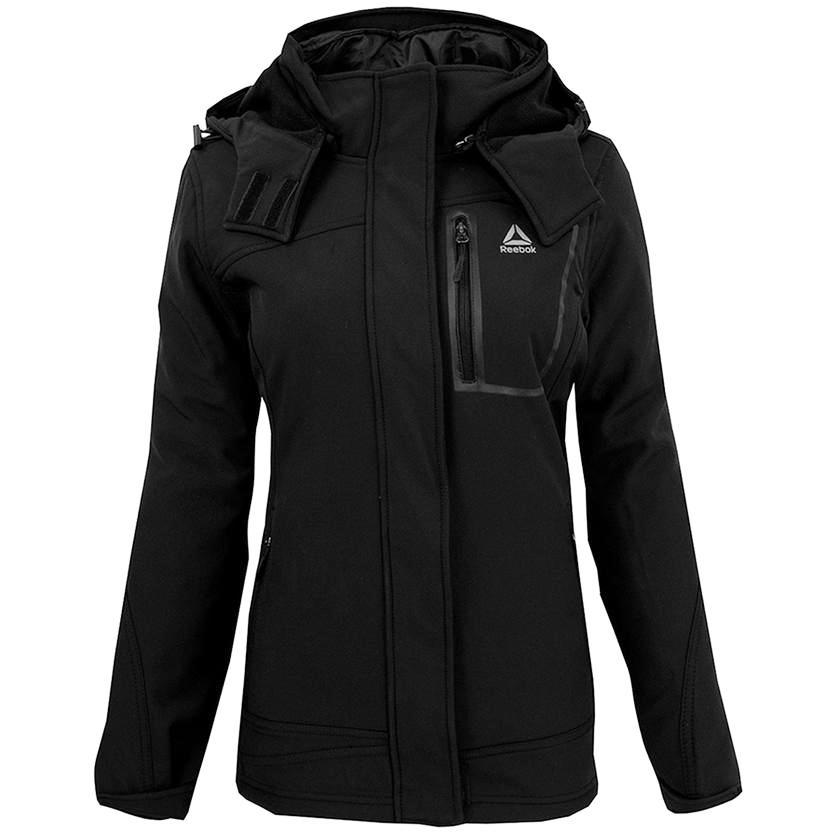 Reebok Women's Softshell System Jacket-Black-S-Daily Steals