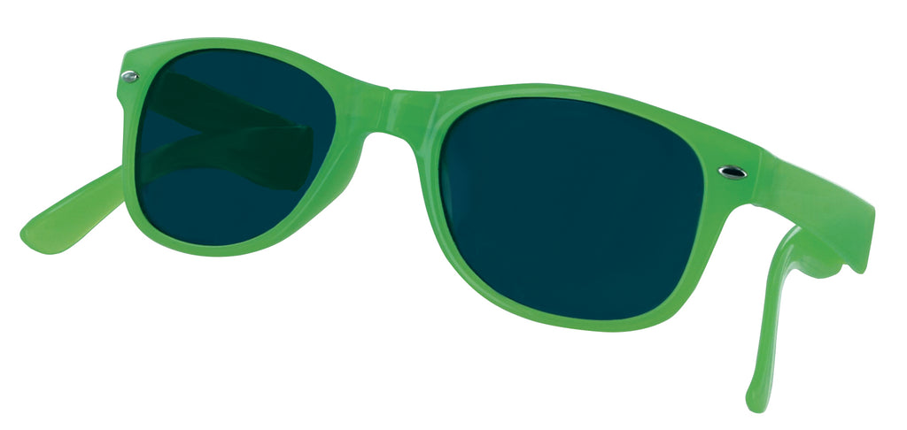 Sizzle Shades Compact Foldable Brightly-Colored Sunglasses-Green-Daily Steals