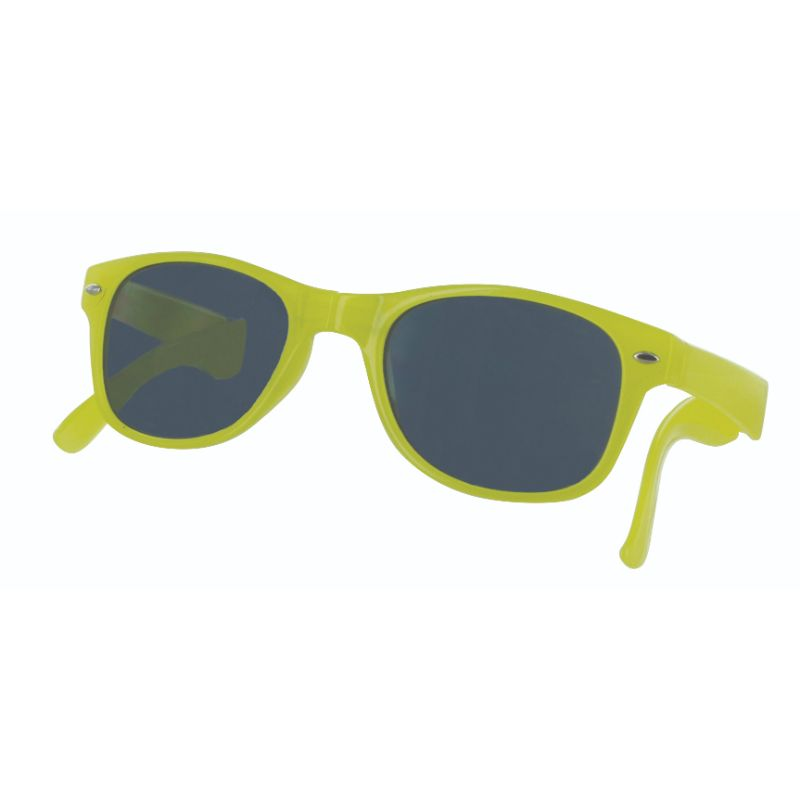 Sizzle Shades Compact Foldable Brightly-Colored Sunglasses-Yellow-Daily Steals