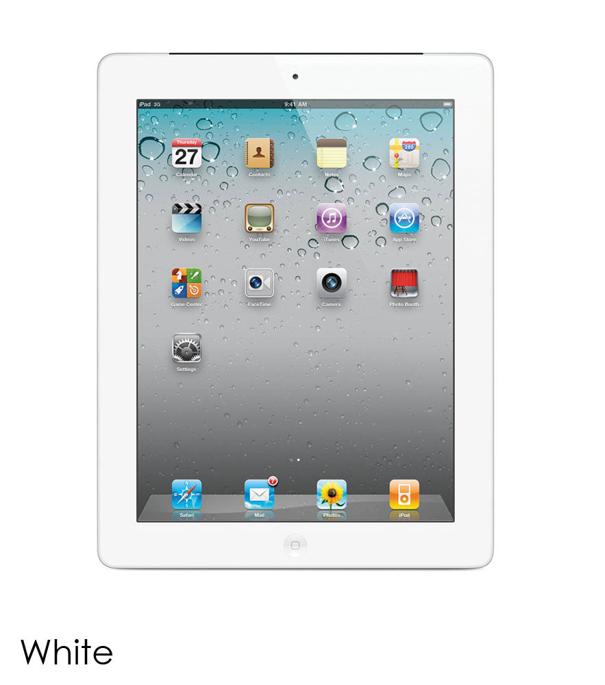 Daily Steals-Apple iPad 2 Bundle with Case, Charger, and Tempered Glass Protector-Tablets-White-16GB-