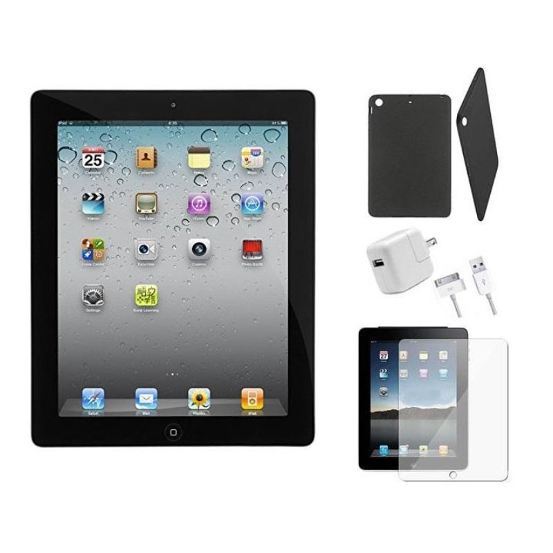 Apple iPad 2 16GB Bundle with Case, Charger, & Tempered Glass Protector-Daily Steals