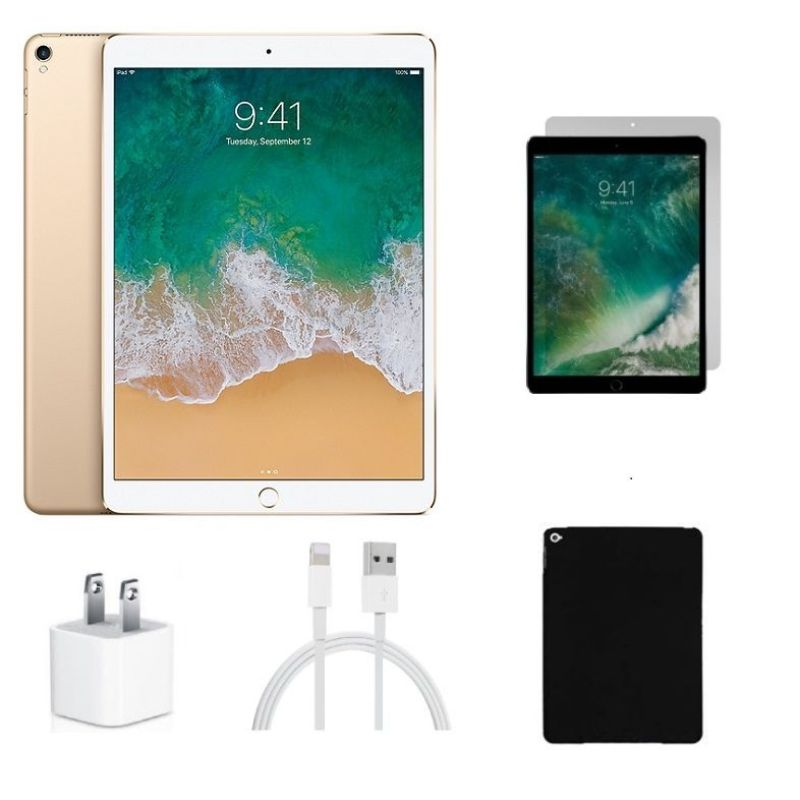 "Apple 9.7"" iPad Pro Wi-Fi 256GB with Tempered Glass, Case, and Charger Combo"