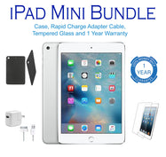 Apple iPad Mini, 1st Generation, WiFi Tablet, FREE Bundle - Black or White-White-16GB-Daily Steals