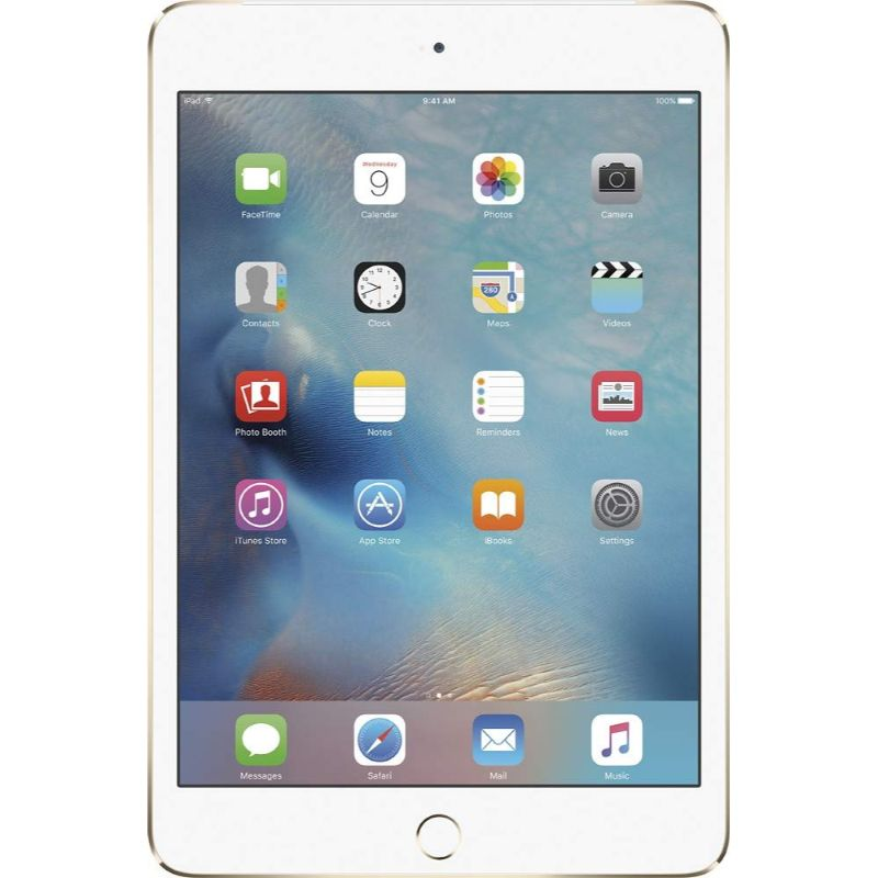 Apple iPad Mini 4 - w/ Tempered Glass, Case and Charger-Gold-128GB-Daily Steals