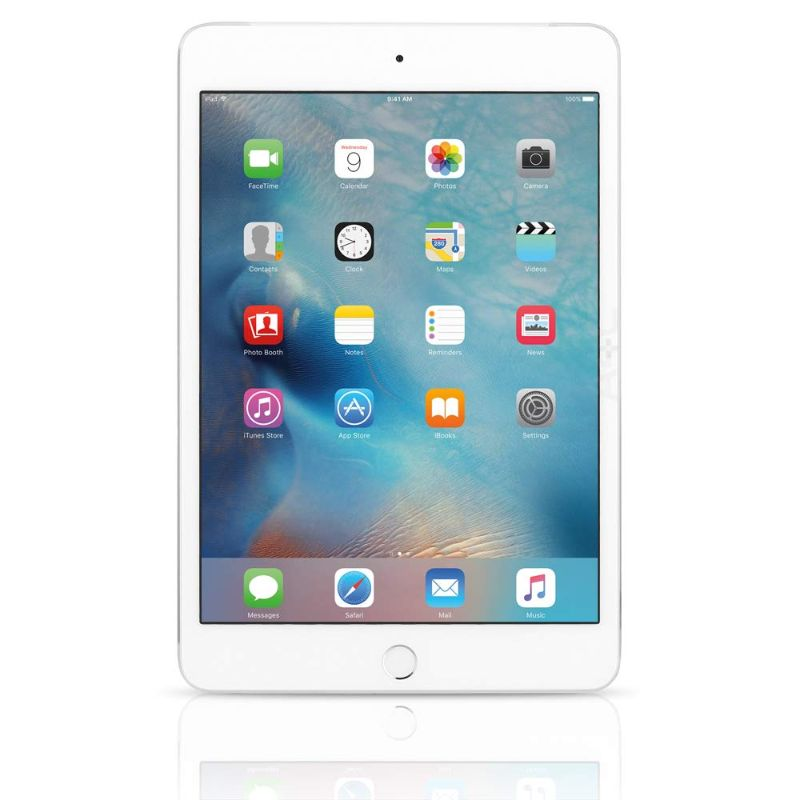 Apple iPad Mini 4 - w/ Tempered Glass, Case and Charger-Silver-64GB-Daily Steals