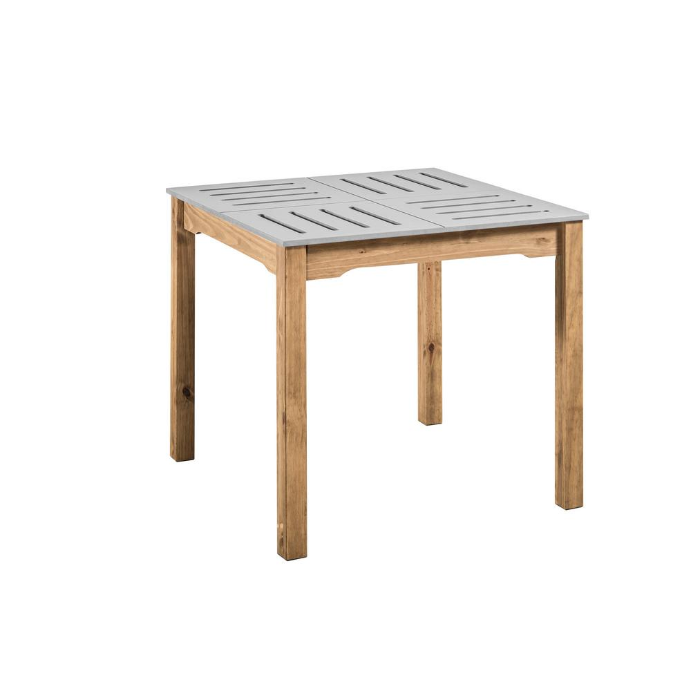 Stillwell Square Dining Table-Gray-Daily Steals