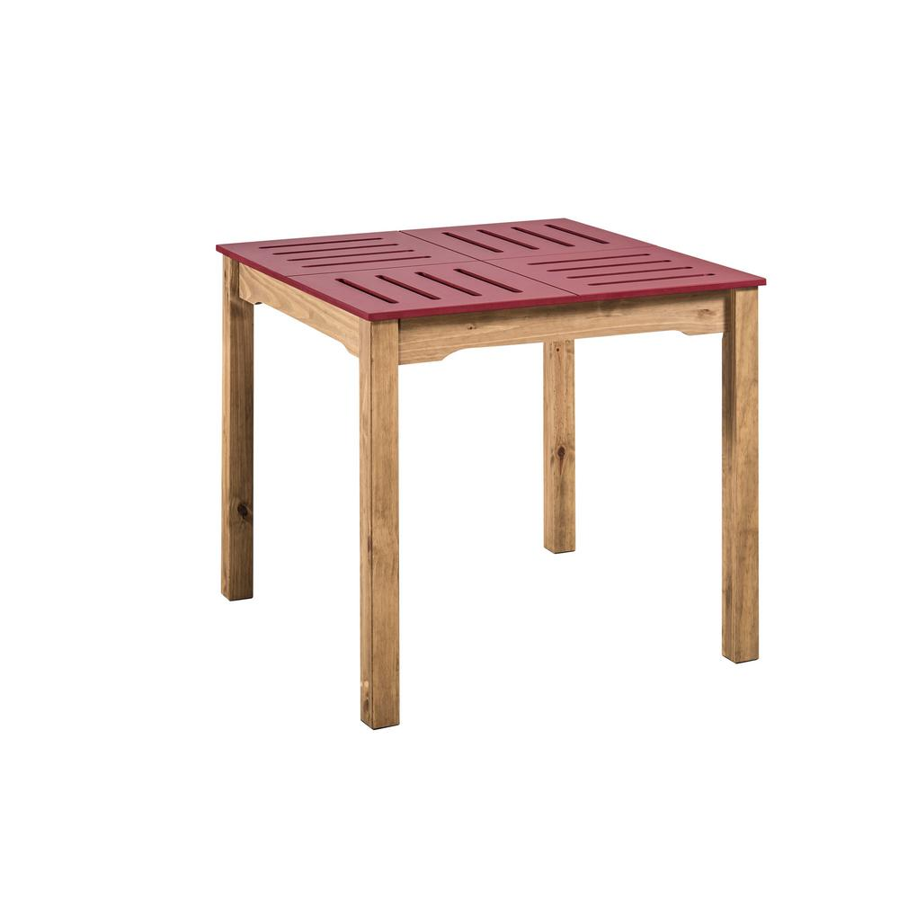 Stillwell Square Dining Table-Red-Daily Steals