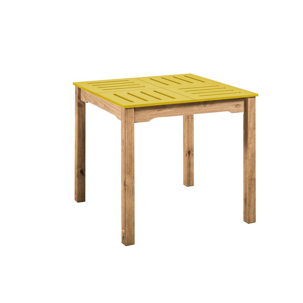 Stillwell Square Dining Table-Yellow-Daily Steals