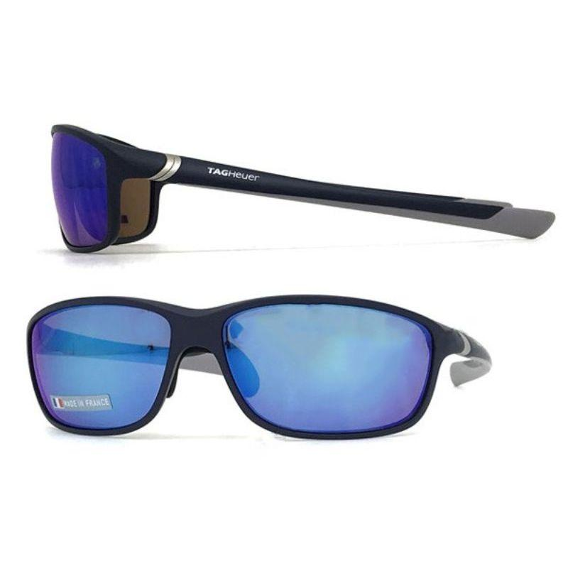 TAG Heuer 6021 214 Unisex Black and Blue Adult Unisex Sunglasses-Daily Steals