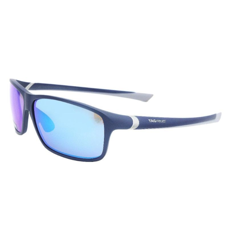 TAG Heuer 6024214 27 Degree Rectangular Matte Blue Sports Sunglasses-Daily Steals
