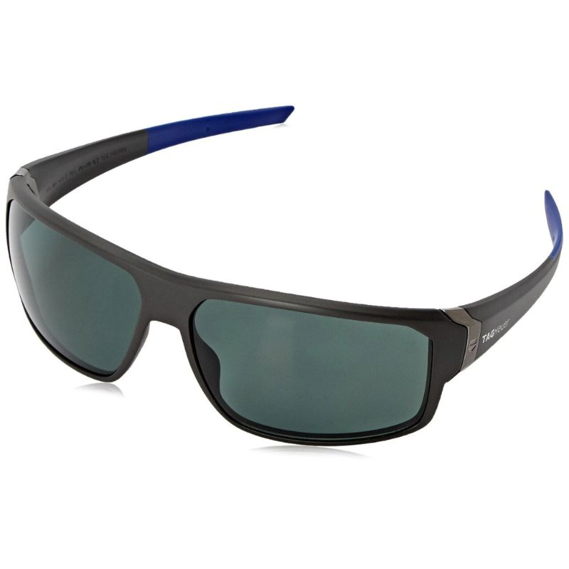 TAG Heuer 9223 106 Racer 2 Blue Full Rim Polarized Grey Lens Sunglasses-Daily Steals