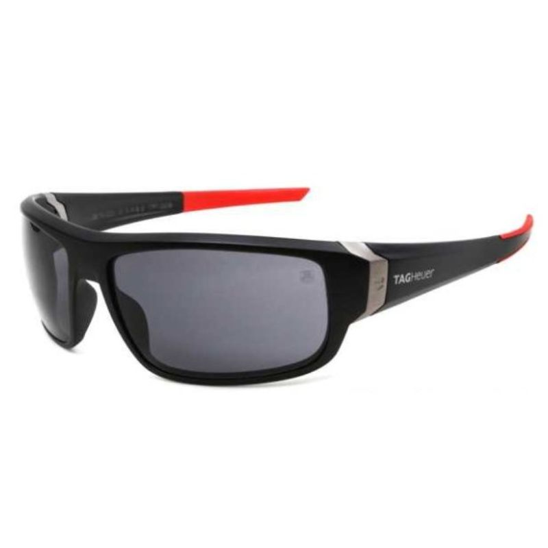 TAG Heuer Raver 2 9221 101 Black and Red Sunglasses-Daily Steals
