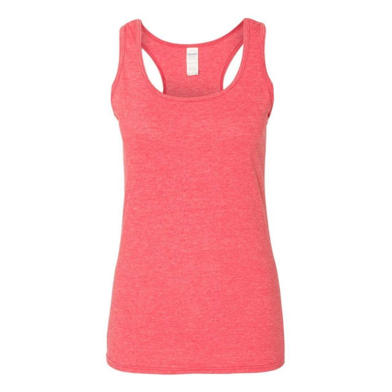 Assorted Gildan Women's Softstyle Racerback Tank Tops - 3 Pack-Daily Steals