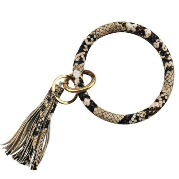 Tassel Bracelet with Removable Clasp Key Ring-Snake-