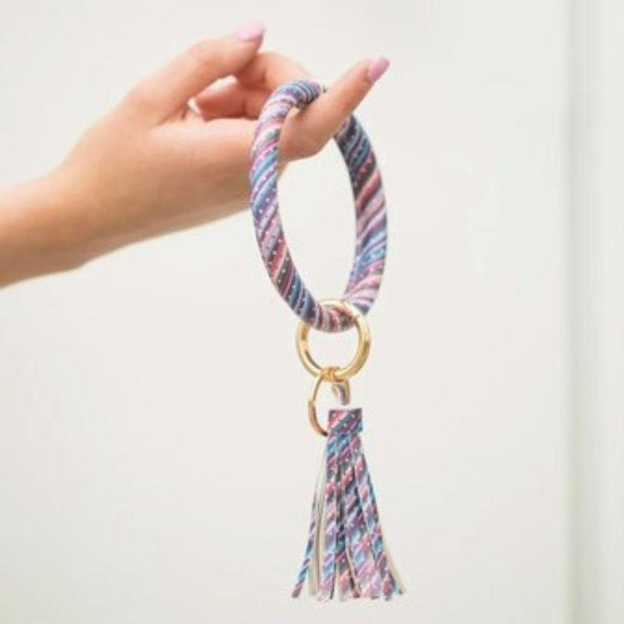Tassel Bracelet with Removable Clasp Key Ring-Galaxy Dot-
