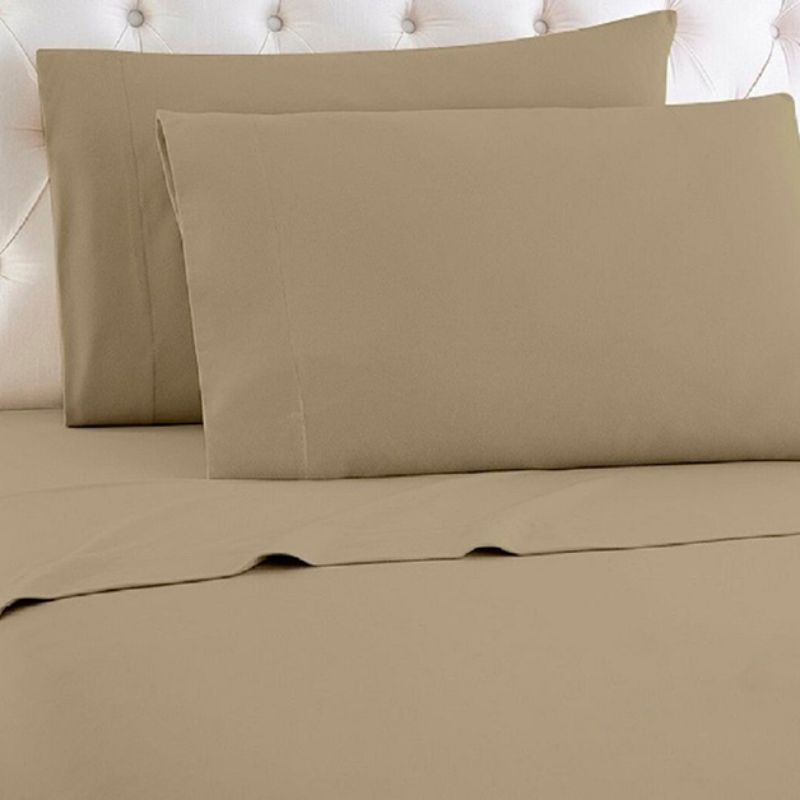 [4-Piece] Luxurious 1,000 Thread Count Egyptian Cotton Sheet Sets-Taupe-Queen-Daily Steals