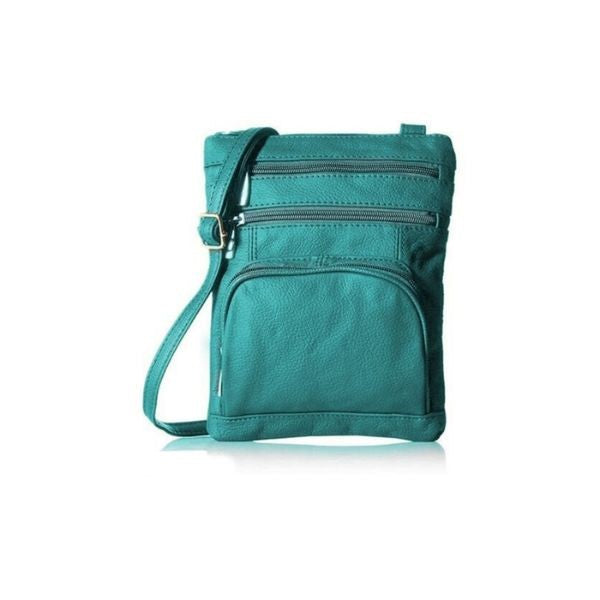 Super Soft Leather Crossbody Bag-Teal-Daily Steals