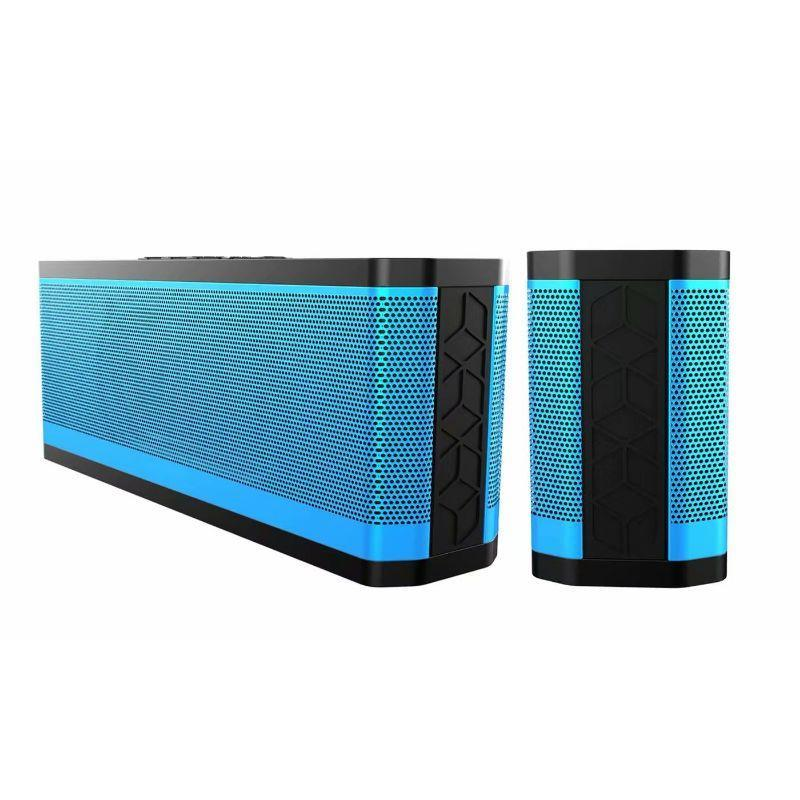 Tech Niche BT530 Water-resistant Low Power Consumption Bluetooth Speakers - 2 Pack-Blue-