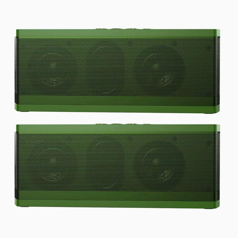 Tech Niche BT530 Water-resistant Low Power Consumption Bluetooth Speakers - 2 Pack-Green-