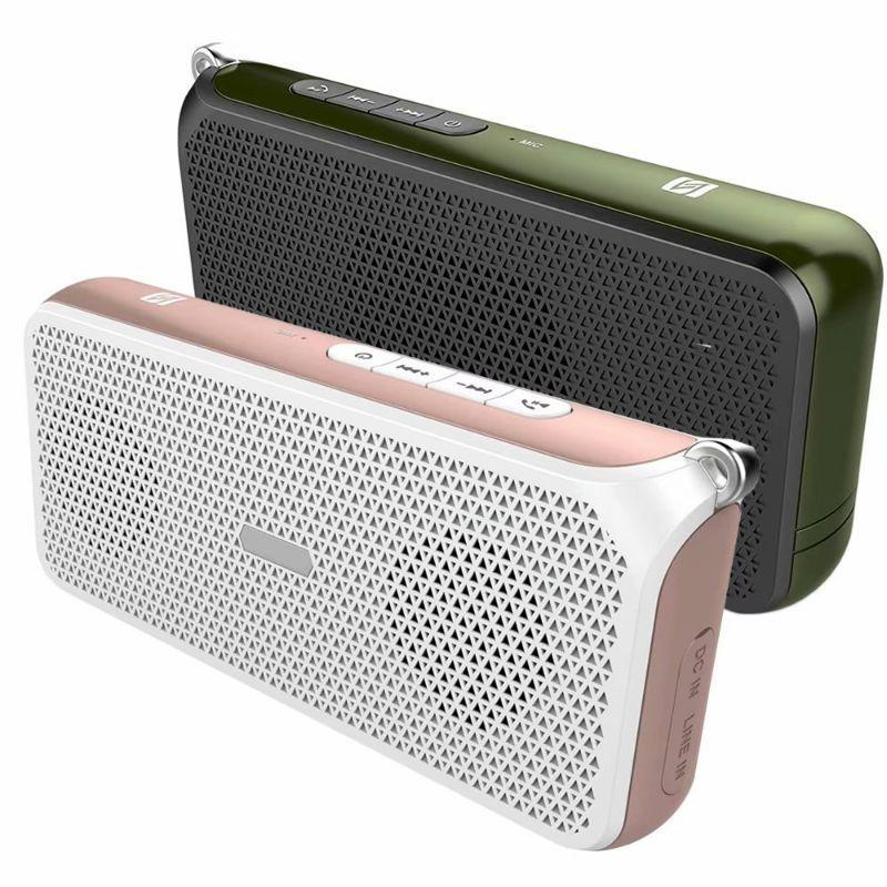 Tech Niche OV-C3 Hi-Fi NFC Bluetooth Speaker with DRC Technology - 2 Pack-Green/Pink-