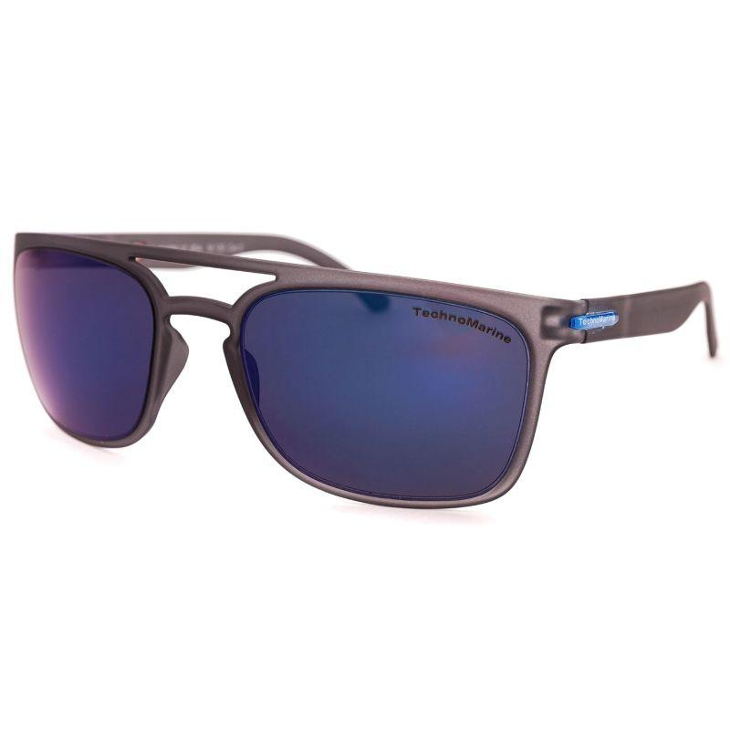 Technomarine Manta Ray TMEW006 Rectangular Frame Mirrored Lens Sunglasses-Blue Lens / Grey Frame-Daily Steals