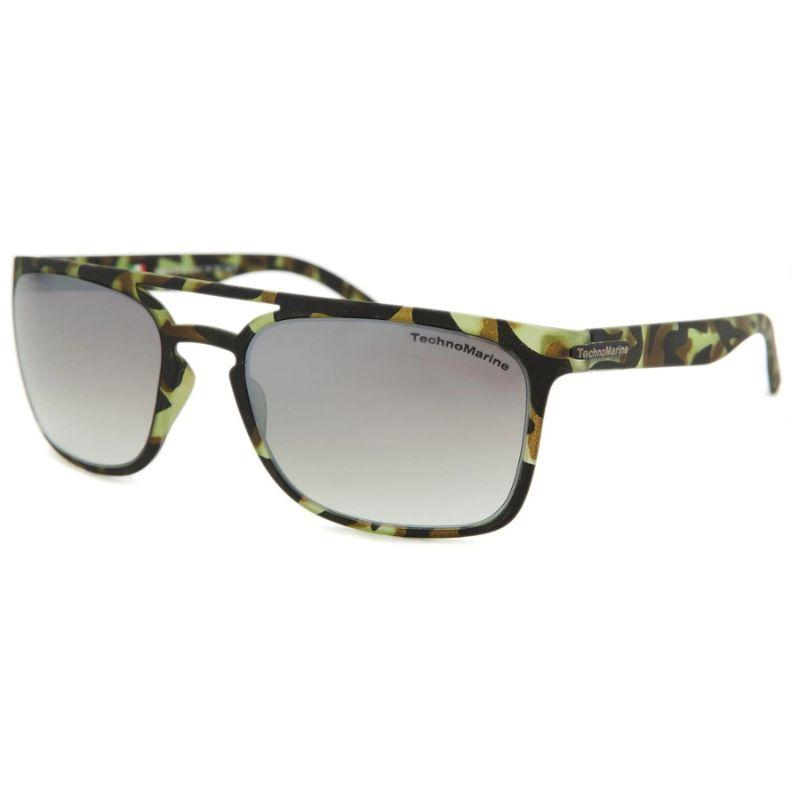 Technomarine Manta Ray TMEW006 Rectangular Frame Mirrored Lens Sunglasses-Brown Lens / Green camouflage Frame-Daily Steals