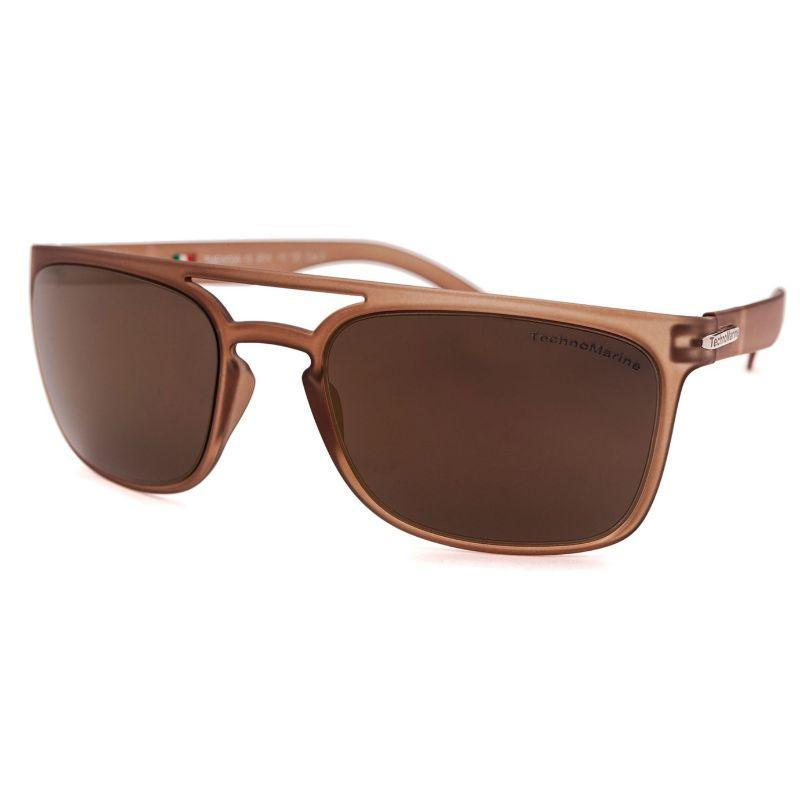 Technomarine Manta Ray TMEW006 Rectangular Frame Mirrored Lens Sunglasses-Brown Lens / Taupe Frame-Daily Steals