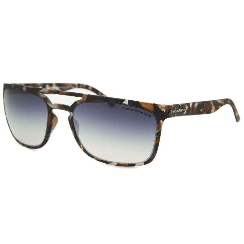Technomarine Manta Ray TMEW006 Rectangular Frame Mirrored Lens Sunglasses-Grey Lens / Brown camouflage Frame-Daily Steals
