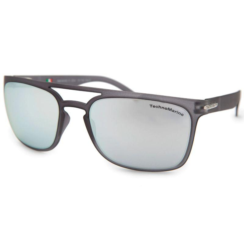 Technomarine Manta Ray TMEW006 Rectangular Frame Mirrored Lens Sunglasses-Silver Lens / Grey Frame-Daily Steals