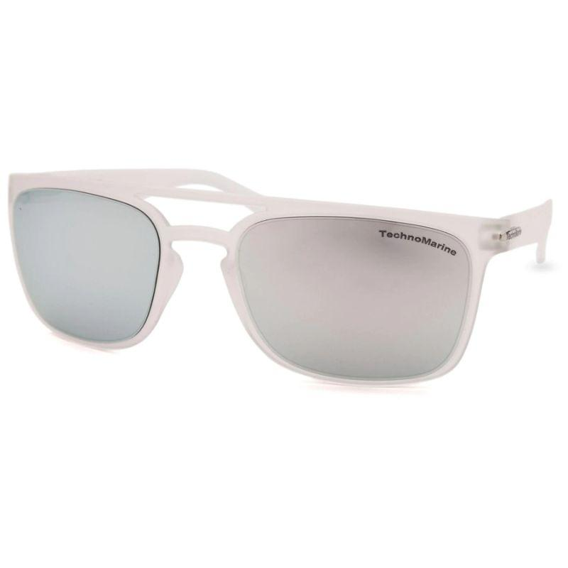 Technomarine Manta Ray TMEW006 Rectangular Frame Mirrored Lens Sunglasses-Silver Lens / Translucent Frame-Daily Steals
