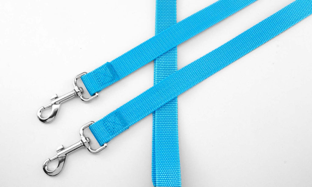 No-Tangle Two Dog Pet Leash-Light Blue-Daily Steals