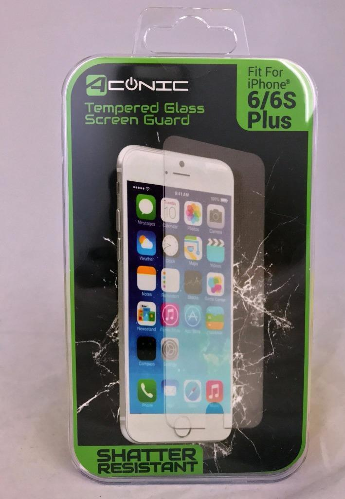 Aconic HD Clarity Tempered Glass Screen Protector for iPhone 6/6S/7/8 Plus Models - 2 or 5 Pack