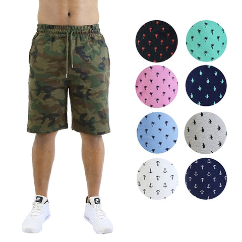 update alt-text with template Daily Steals-Men's Printed French Terry Shorts - Sizes S-2X-Men's Apparel-Woodland-M-