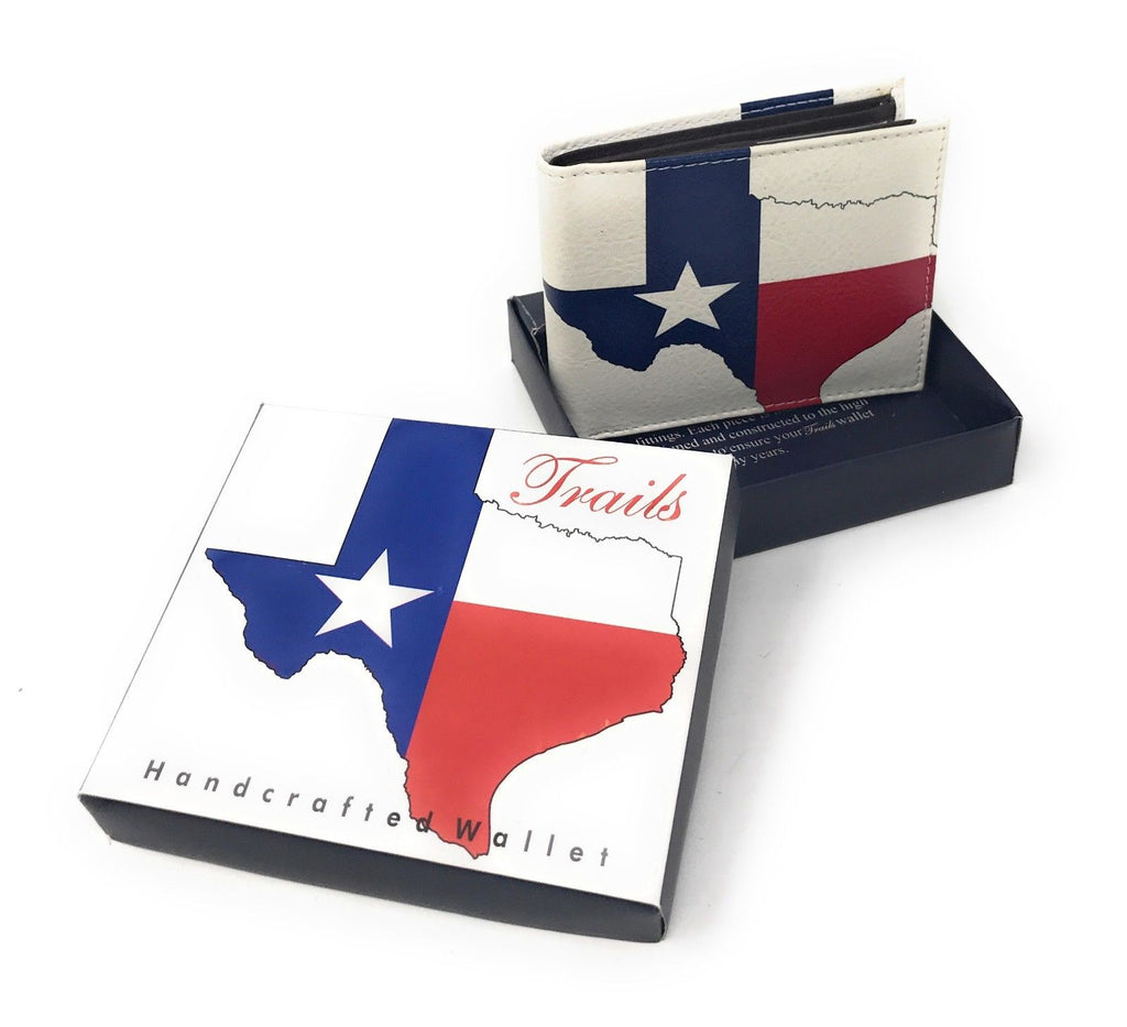 Bifold Wallets With Printed Designs - Comes in Gift Box-TEXAS FLAG-Daily Steals