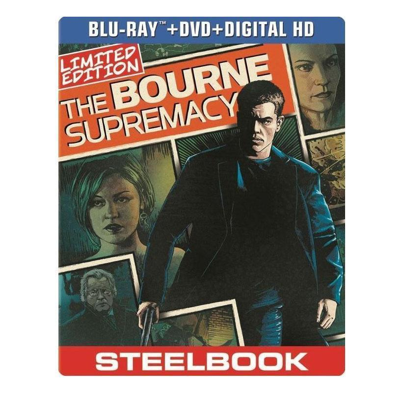 Daily Steals-The Bourne Supremacy Limited Edition Steelbook (Blu-ray & DVD)-Media-