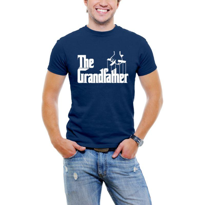 """The Grandfather"" Men T-Shirt-Navy Blue-3XL-Daily Steals"