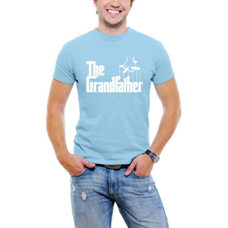 """The Grandfather"" Men T-Shirt-Sky Blue-3XL-Daily Steals"