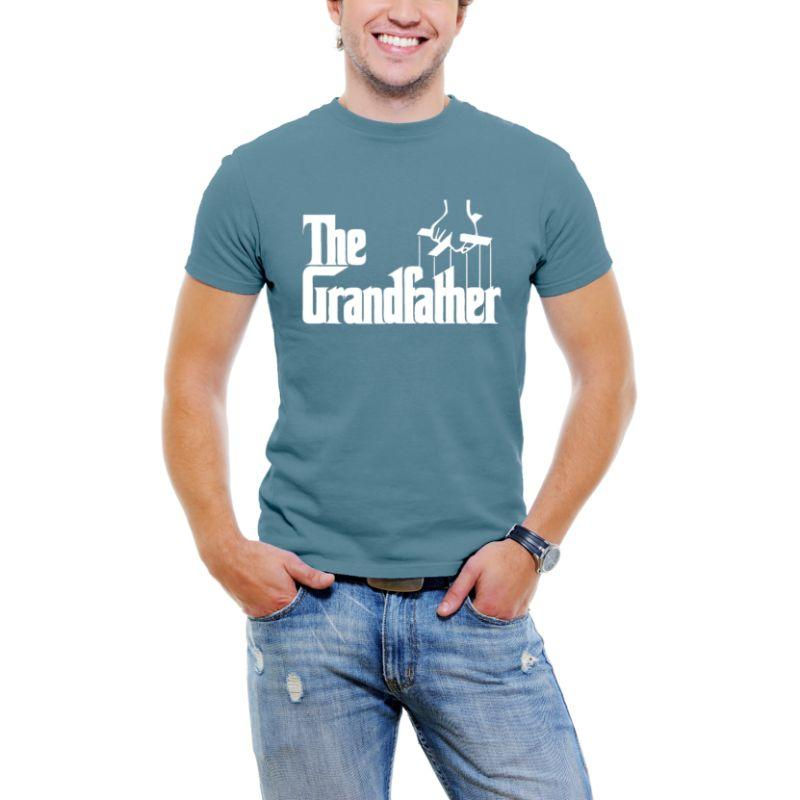 """The Grandfather"" Men T-Shirt-Slate Blue-M-Daily Steals"