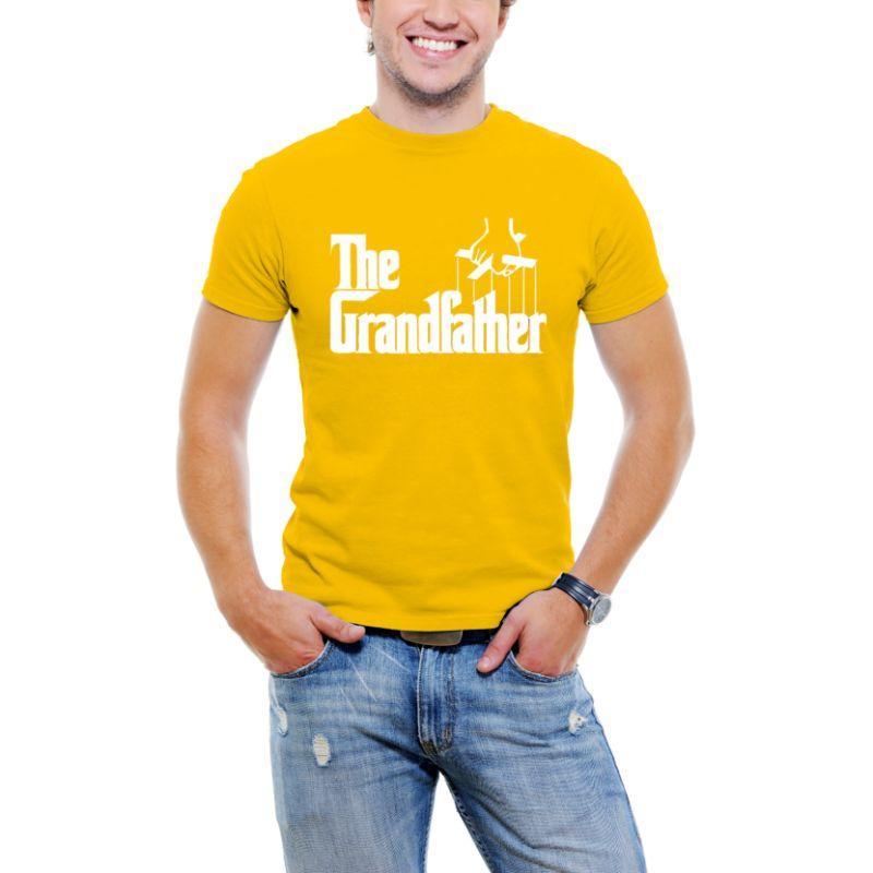 """The Grandfather"" Men T-Shirt-Yellow-S-Daily Steals"