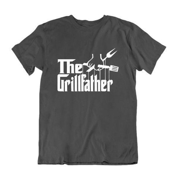 The Grillfather 'Funny Grilling T Shirt-Vêtements pour hommes-Charcoal-Small-