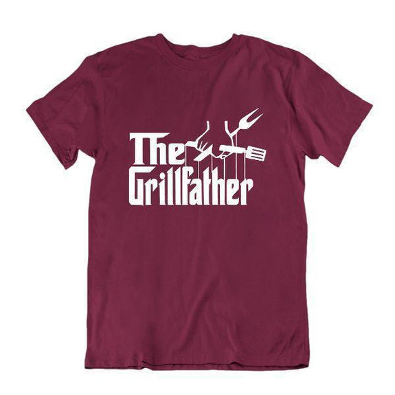 Le Grillfather 'Funny Grilling T Shirt-Maroon-Small-