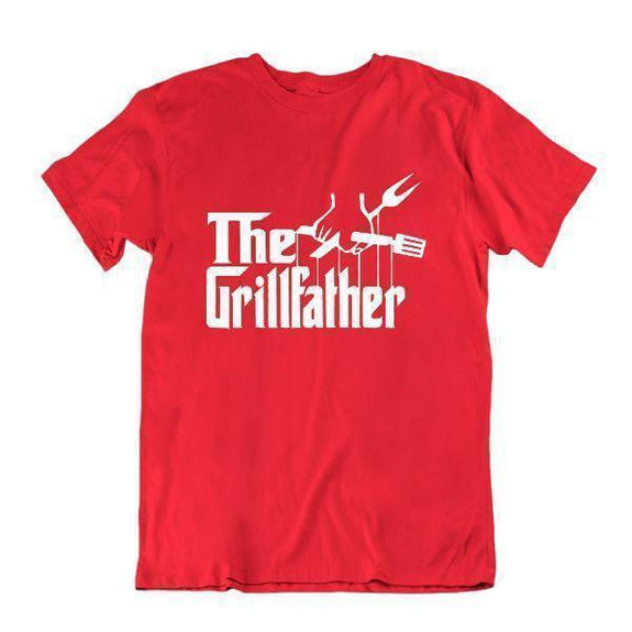 The Grillfather 'Funny Grilling T Shirt-Vêtements pour hommes-Rouge-Petit-