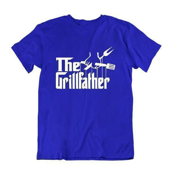 The Grillfather 'Funny Grilling T Shirt-Vêtements pour hommes-Bleu royal-Petit-