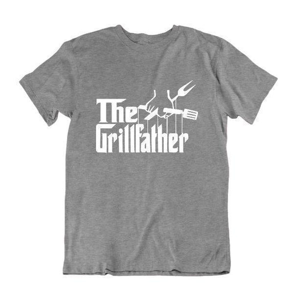Le Grillfather 'Funny Grilling T Shirt-Sports Grey-Small-