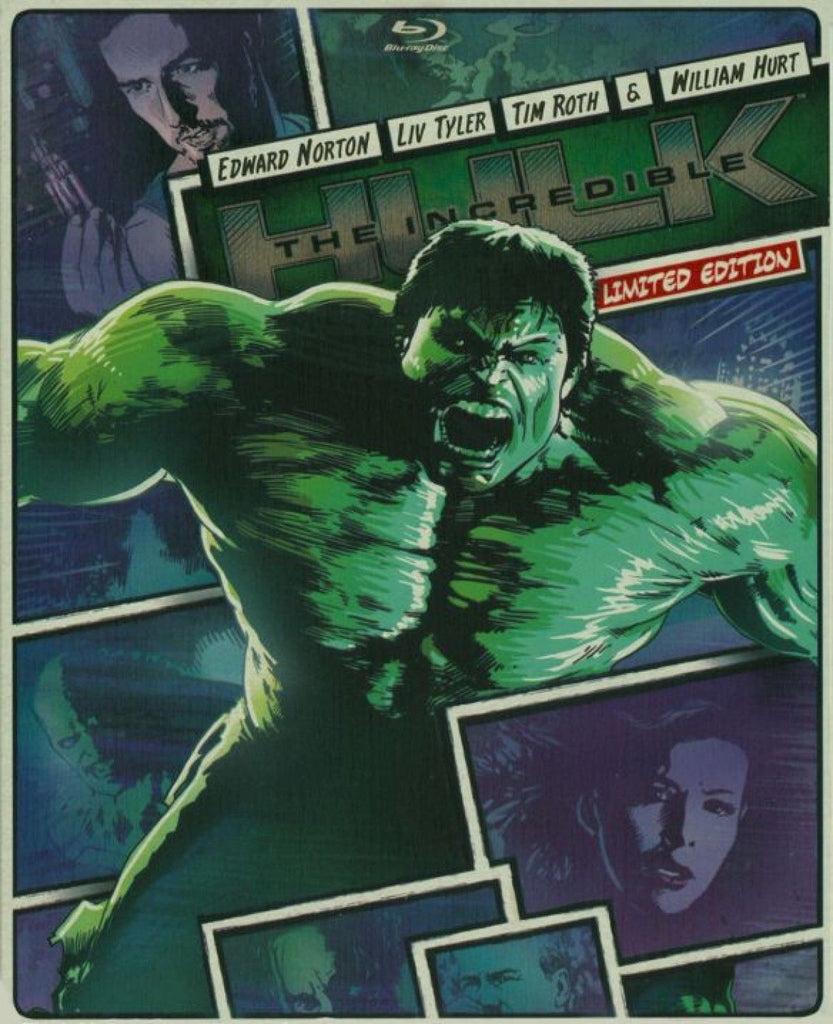 Daily Steals-The Incredible Hulk (2013) Limited Edition Steelbook Case (Blu-Ray + DVD)-Digital Products-